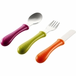 Beaba Stainless Steel Cutlery, Set of 3 - Gipsy