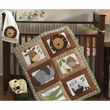 Bedtime Originals Baby Zoo 4 Piece Crib Bedding Set