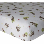 Bedtime Originals Curly Tails Crib Fitted Sheet