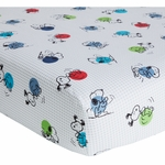 Bedtime Originals Hip Hop Snoopy Crib Sheet