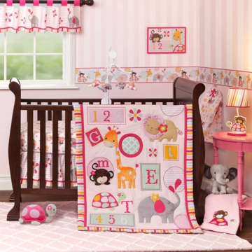 Bedtime Originals Jungle Sweeties 3 Piece Crib Bedding Set