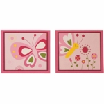 Bedtime Originals Pink Butterfly Wall Decor