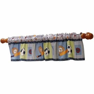 Bedtime Originals Super Sports Window Valance
