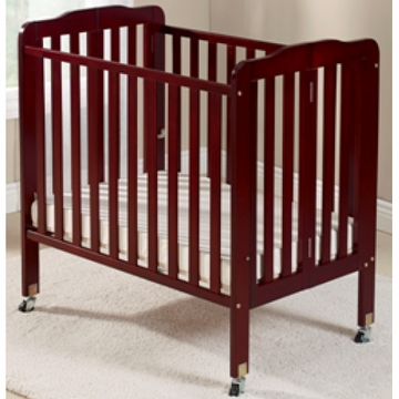 Big Oshi Angela Portable Crib in Cherry