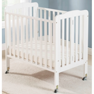 Big Oshi Angela Portable Crib in White
