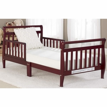 Big Oshi Classic Sleigh Toddler Bed in Cherry