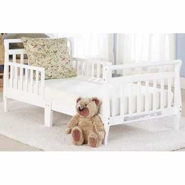Big Oshi Classic Sleigh Toddler Bed in White