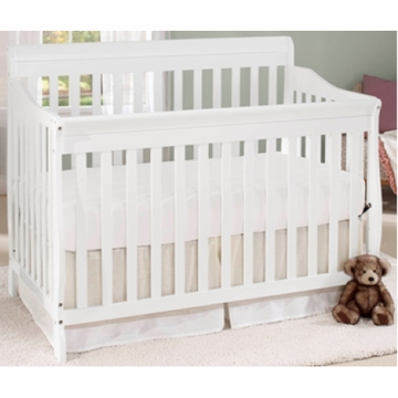 Big Oshi Stephane 4 in 1 Convertible Crib in White