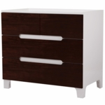 Bloom Alma Dresser in Coconut White with Cappucinno Drawers