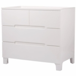 Bloom Alma Dresser in Coconut White with Coconut White Drawers