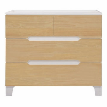 Bloom Alma Dresser in White with Natural Drawers