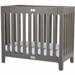 Bloom Alma Mini Urban Crib in Frost Grey