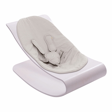 Bloom Coco Stylewood Beach House White Baby Lounger in Organic Frost Grey