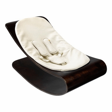 Bloom Coco Stylewood Cappuccino Baby Lounger in Organic Coconut White