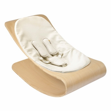 Bloom Coco Stylewood Natural Baby Lounger in Organic Coconut White