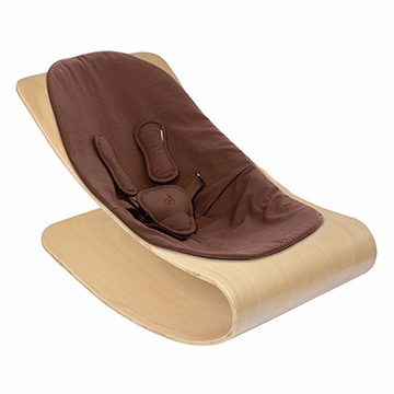 Bloom Coco Stylewood Natural Baby Lounger in Organic Henna Brown