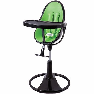 Bloom Fresco Highchair with Black Frame in Gala Green (Leatherette)