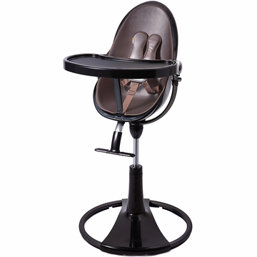 Bloom Fresco Highchair with Black Frame in Henna Brown (Leatherette)