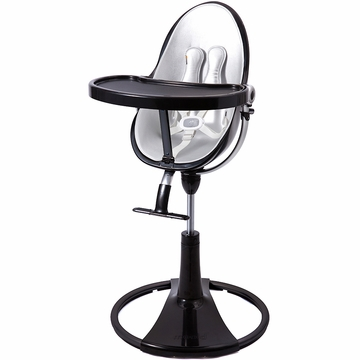 Bloom Fresco Highchair with Black Frame in Lunar Silver (Leatherette)