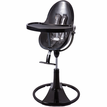 Bloom Fresco Highchair with Black Frame in Snake Skin Black