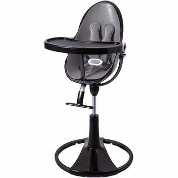 Bloom Fresco Highchair with Black Frame in Snake Skin Grey