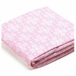 Bloom Luxo 2 Pack Fitted Sheets in Lollipop Rosy Pink