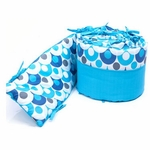 Bloom Luxo Organic Bumper in Lollipop Bermuda Blue