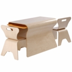 Bloom Otto Table and Chairs Set in Natural