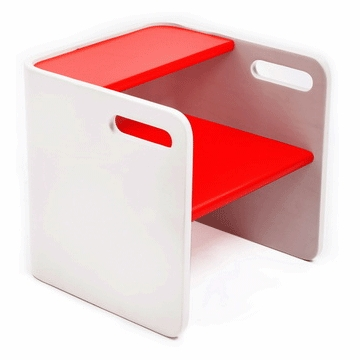 Bloom Pogo 3 in 1 Step Stool in Beach House White/Rock Red