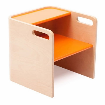 Bloom Pogo 3 in 1 Step Stool in Natural/Harvest Orange