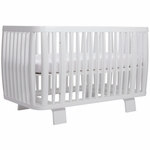 Bloom Retro Crib in Coconut White
