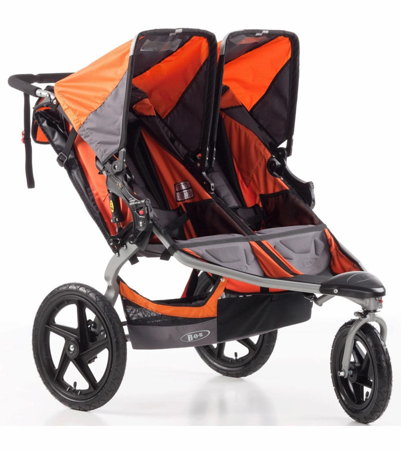 Bob Revolution Se Duallie Double Stroller Orange