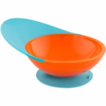 Boon Catch Bowl with Spill Catcher in Blue Raspberry & Tangerine