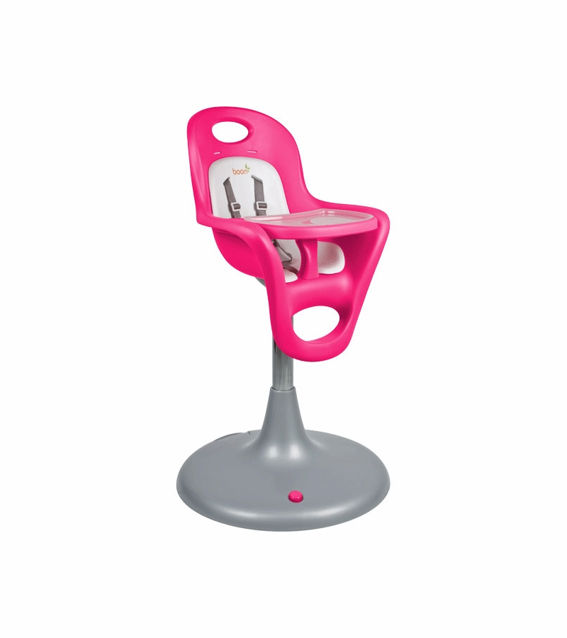 Boon Flair Pedestal Highchair With Pneumatic Lift Pink