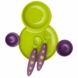 Boon Groovy Interlocking Plate & Bowl with Modware in Kiwi & Grape