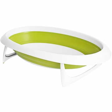 Boon NAKED 2-Position Collapsible Baby Bathtub - Green & White