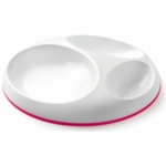 Boon Saucer Stay-put Divided Plate Pink