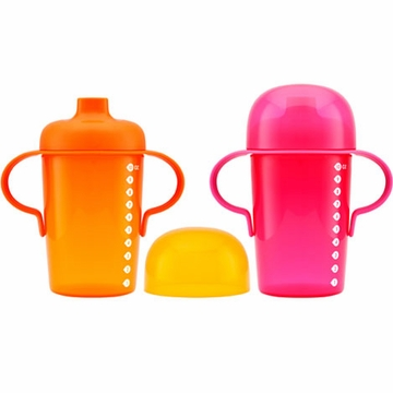 Boon Sip 10oz. Sippy Cups - 2 Pack - Pink & Orange