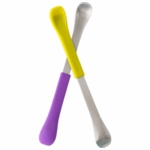 Boon SWAP 2-IN-1 Feeding Spoon - Green & Purple