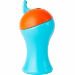 Boon SWIG Tall Flip Top Sippy Cup - Blue & Orange