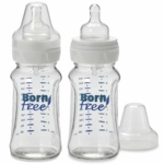 BornFree 9-Ounce Wide Neck Plastic Bottles (2-Pack)