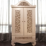 Bratt D�cor Chelsea Collection Armoire - Antique Silver