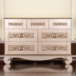 Bratt D�cor Chelsea Collection Dresser - Antique Silver