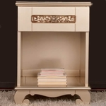 Bratt D�cor Chelsea Collection Night Stand - Antique Silver
