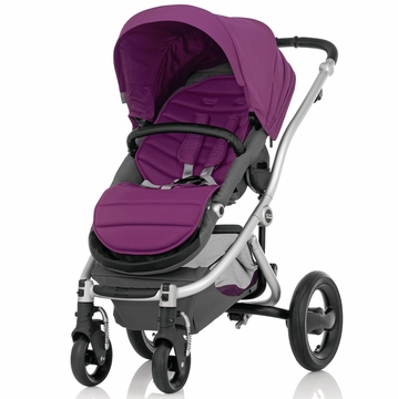 Britax Affinity Complete Stroller, Silver - Cool Berry