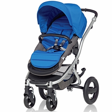 Britax Affinity Complete Stroller, Silver - Sky Blue