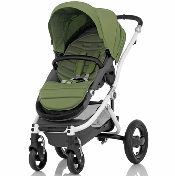 Britax Affinity Complete Stroller, White - Cactus Green