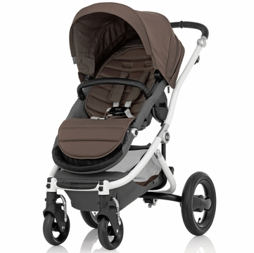 Britax Affinity Complete Stroller, White - Fossil Brown