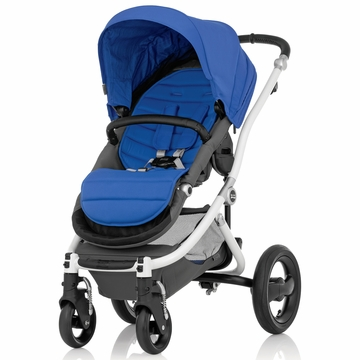 Britax Affinity Complete Stroller, White - Sky Blue