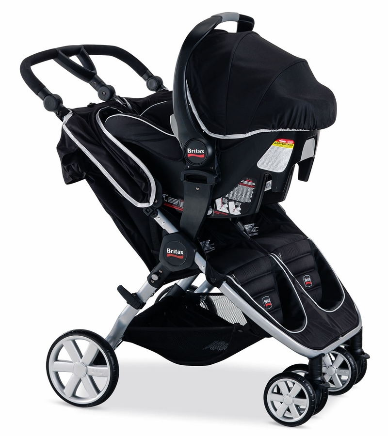 Double Side By Side Stroller With Infant Car Seat